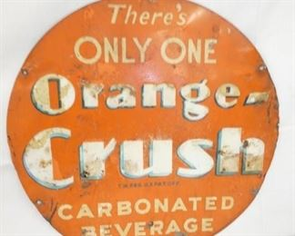 16IN EMB. ONLY ONE ORANGE CRUSH SIGN