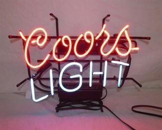 21X17 COORS LIGHT NEON