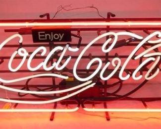 28X15 ENJOY Coca Cola NEON