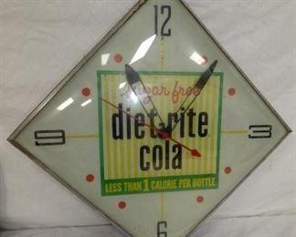 22IN DIET RITE COLA CLOCK