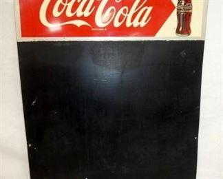 20X28 COKE ARROW MENU W/ BOTTLE