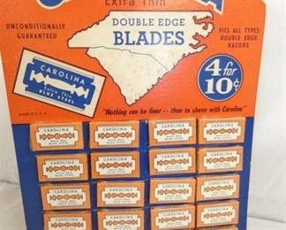 10X14 CAROLINA BLADES DISPLAY OLD STOCK