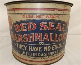 13X9 10LBS RED SEAL MARSHMALLOW TIN
