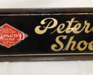 12X4 GLASS PETERS SHOES SIGN