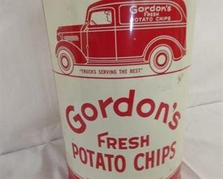 8X11 GORDONS CHIPS TIN