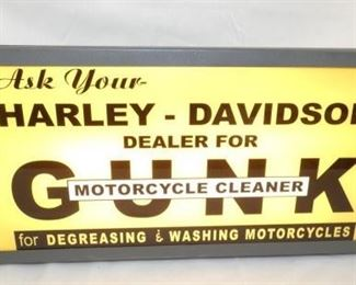 26X10 LIGHTED Harley Davidson CAN SIGN