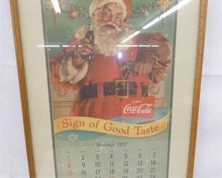 18X27 1957 Coca Cola CALENDAR