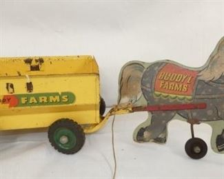 VIEW 4 SIDE 2 HORSE CART PULL TOY
