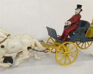 13X6 HORSE DRAWN BUGGY W/ PEOPLE