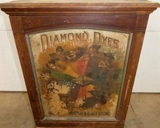 23X30 DIAMOND DYES WOODEN CABINET
