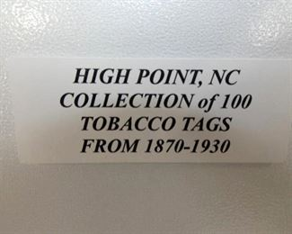 1870-1930 COLLECTION 100 TOBACCO TAGS