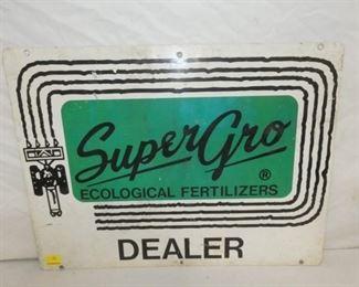 24X18 SUPER GRO FERTILIZERS SIGN