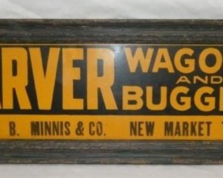 26X10 CARVER WAGONS/BUGGIES FRAMED AD