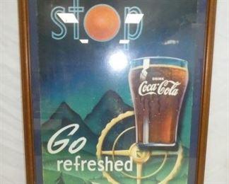 10X24 STOP & GO COCA-COLA CARDBOARD