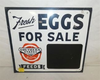 16X16 SOUTHERN STATES EGGS SIGN