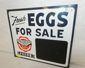 VIEW 2 CLOSE UP EGG PRICING SIGN