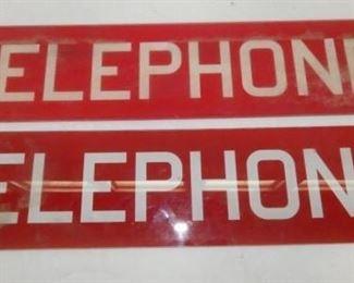26X5 GLASS TELEPHONE INSERTS