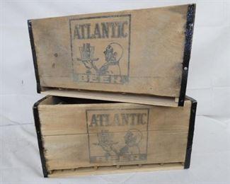 VIEW 3 1937 WOODEN ATLANTIC BEER CRATES