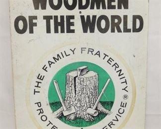 24X30 WOODMEN OF THE WORLD SIGN