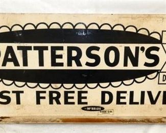 48X18 PATTERSONS DRUGSTORE SIGN