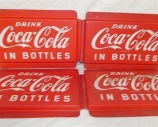 19X12 PLASTIC Coca Cola IN BOTTLES SIGN