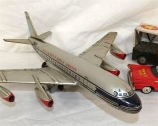 TOY AIRLINE JET, CHIEF CAR, ARMY JEEP
