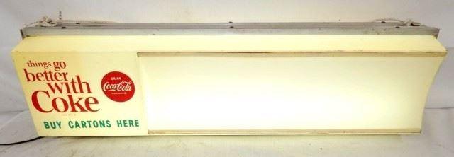 34X10 LIGHTED BETTER W/ COKE SIGN