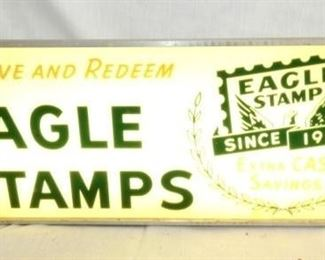26X10 LIGHTED EAGLE STAMPS SIGN