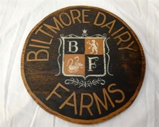 VIEW 3 12IN WOODEN BILTMORE SIGN