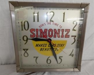14IN SIMONIZ ADV. CLOCK