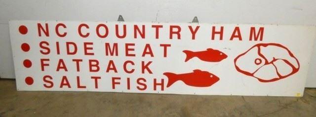 96X24 NC COUNTRY HAM,MEAT,FATBACK,FISH