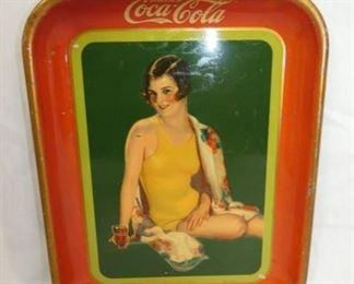 1929 COKE TRAY W/SWIMSUIT GIRL