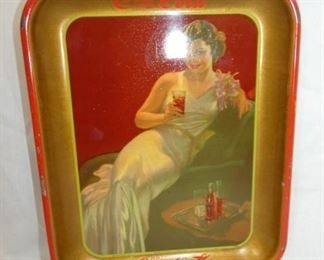 1936 COKE TRAY W/VICT. LADY