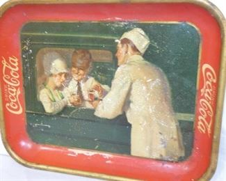 VIEW RIGHTSIDE 1927 COKE TRAY