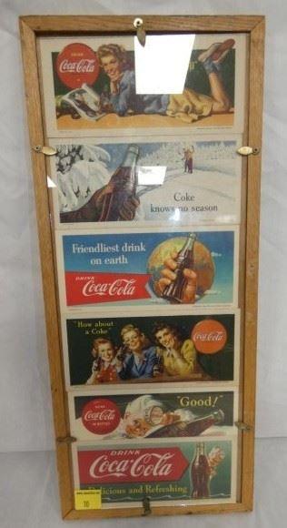 9X21 1950'S Coca Cola FRAMED BLOTTERS