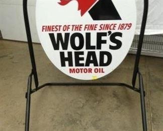 27X49 WOLFS HEAD SIDEWALK SIGN