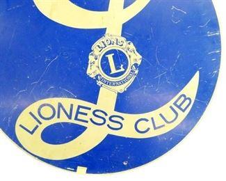 VIEW 2 CLOSEUP LIONESS CLUB SIGN