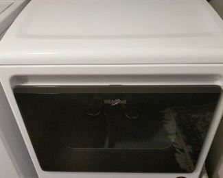 "Like new Whirlpool electric dryer. Measures 27""x27""x41"". Includes cords and tubing. See photo for model number. Please bring tools to disconnect and move.   Located on 1st floor https://ctbids.com/#!/description/share/821789"