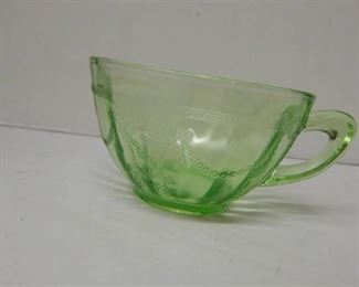 Vintage Hocking Green Glass Coffee Cups (8 ea)
