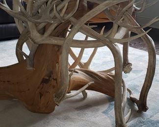 Close up of antler table.