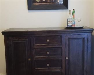 "Solid, wood ""BAR"" cabinet.  Perfect for liquor cabinet.  $350 - Paid $799"