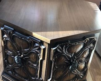 Octagon vintage end table