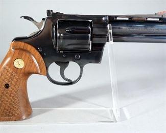 Colt Python 357 .357 Magnum 6-Shot Revolver SN# K44203, Pachmayr Grips, Made In 1981, In Hard Case