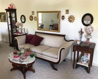 Home is filled with vintage and antique furniture, glassware and collectibles.   Jewelry is also available.