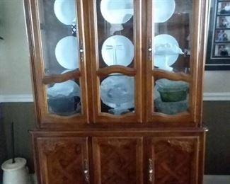 Mid Century China Cabinet with Bottom Storage