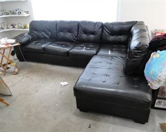 Leather Sectional Sofa $300