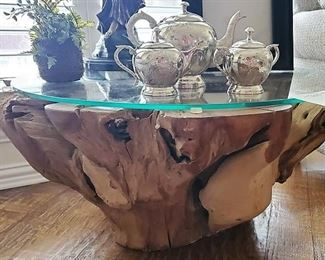 Coffee Table made from base of Tree