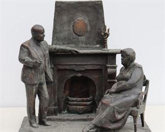 Bronze Sculpture of Couple
