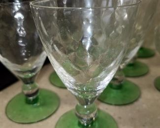 Assorted Green Depression Glass