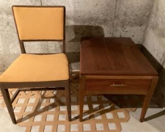 MCM End Table and Reupholstered Chair
